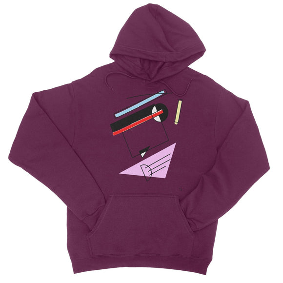 Abstract 2 College Hoodie