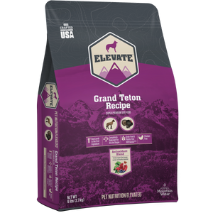 Elevate Dry Dog Food Grand Teton Recipe 28 lb bag
