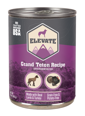 Elevate Canned Dog Food Grand Teton Recipe 13 oz