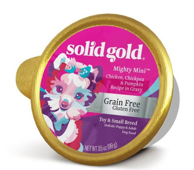 Solid Gold Grain Free Mighty Mini Small Breed with Chicken Dog Food Tray