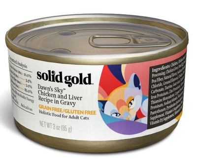 Solid Gold Grain Free Adult Dawn's Sky Chicken and Liver Recipe Canned Cat Food