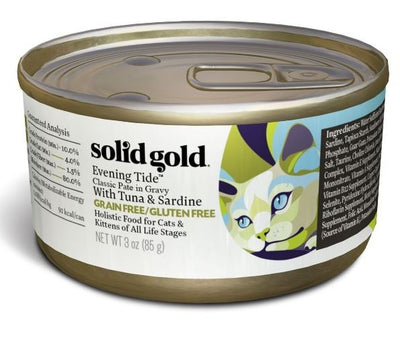 Solid Gold Grain Free Evening Tide Classic Pate in Gravy Canned Cat Food