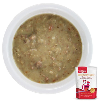 Solid Gold Grain Free Holistic Delights Beef Creamy Bisque Cat Food Pouches