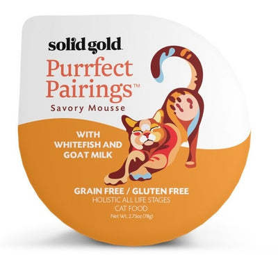 Solid Gold Grain Free Purrfect Pairings Whitefish Savory Mousse Cat Food Tray