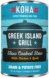 Koha Dog Grain and Potato Free Slow Cooked Stew Greek Island Grill 12.7 oz single