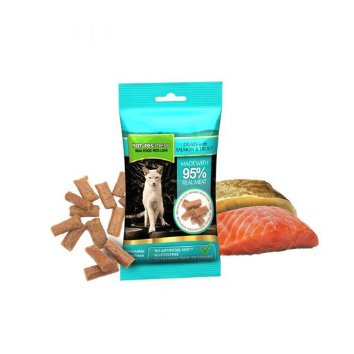 Nature's menu treats with salmon & trout 60gr - PETTER