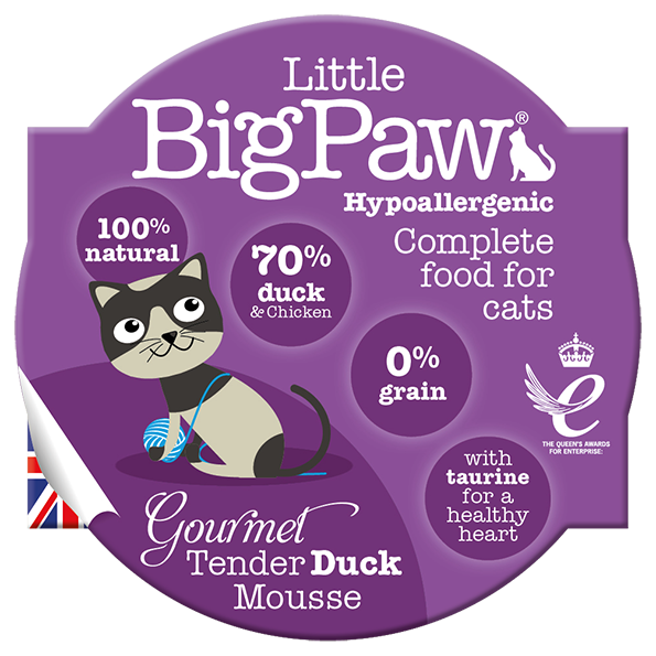The Littlebig paw duck & chicken mousse 85gr - PETTER