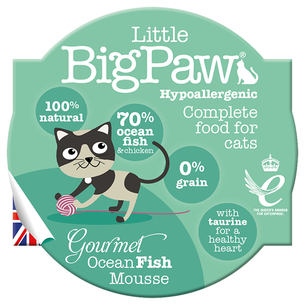 The Littlebig paw ocean fish & chicken mousse 85gr - PETTER