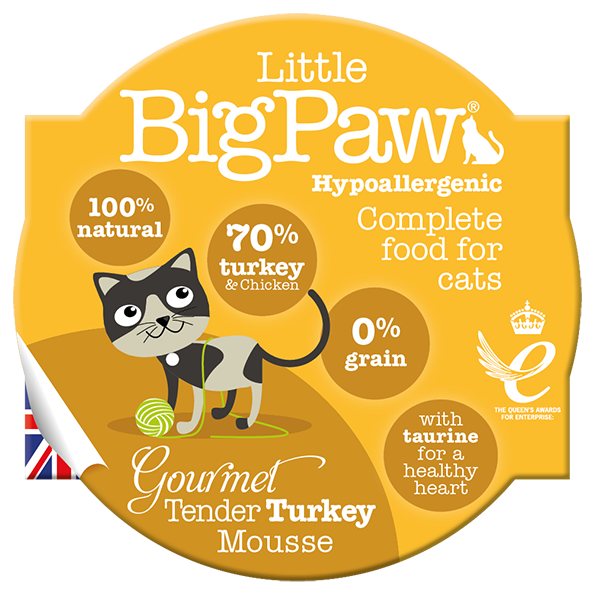 The Littlebig paw turkey & chicken mousse 85gr - PETTER