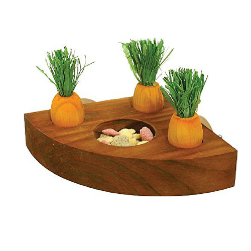 Rosewood carrot toy 'n' treat holder - PETTER