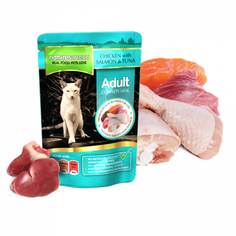 Nature's menu cat salmon & tuna 100gr - PETTER