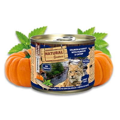 Natural Greatness salmon & turkey with pumpkin and catnip 200gr - PETTER