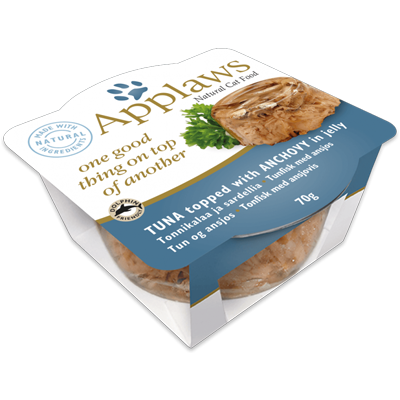 Applaws Tuna with Anchovy in jelly 70gr - PETTER