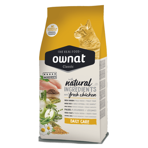 Ownat daily care chicken adult cat 15kgs