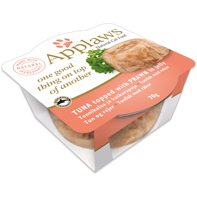 Applaws Tuna with Prawn in jelly 70gr - PETTER