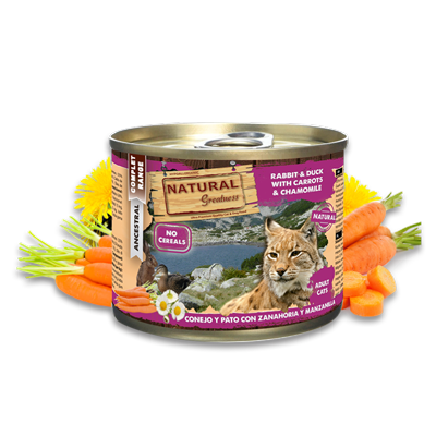 Natural Greatness Rabbit & Duck with carrots and camomile 200gr - PETTER