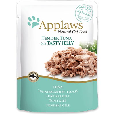 Applaws Tuna Wholemeat in Jelly 70gr - PETTER