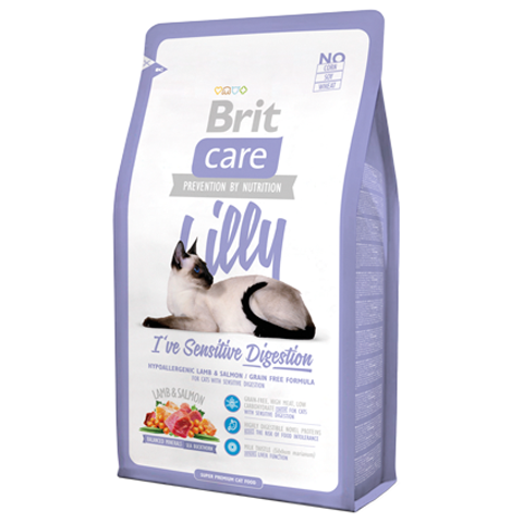 Brit Care Cat Lilly Sensitive Digestion Lamb & Salmon - PETTER