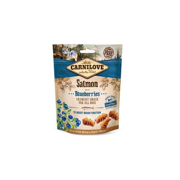 Carnilove Dog Crunchy Snack Salmon & Blueberries para cães - PETTER
