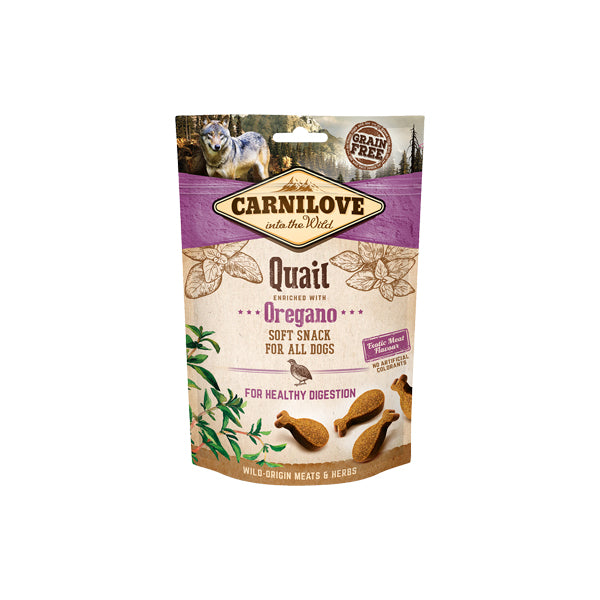Carnilove Dog Soft Snack Quail with Oregano - PETTER