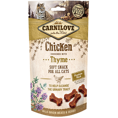 Carnilove chicken & thyme cat snack 50gr - PETTER