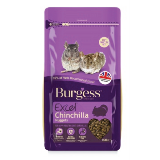 Burgess excel nuggets for chinchilla 1.5kgs