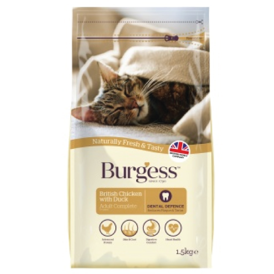 Burgess chicken & duck adult cat - PETTER