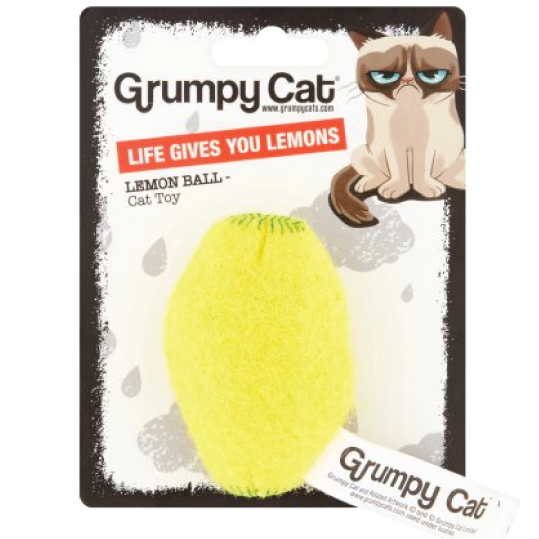 "Brinquedo gato Grumpy Cat ""Lemon Ball"" - PETTER"