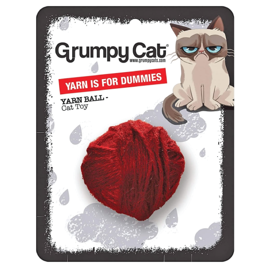"Brinquedo gato Grumpy Cat ""Yarn is boring"" - PETTER"
