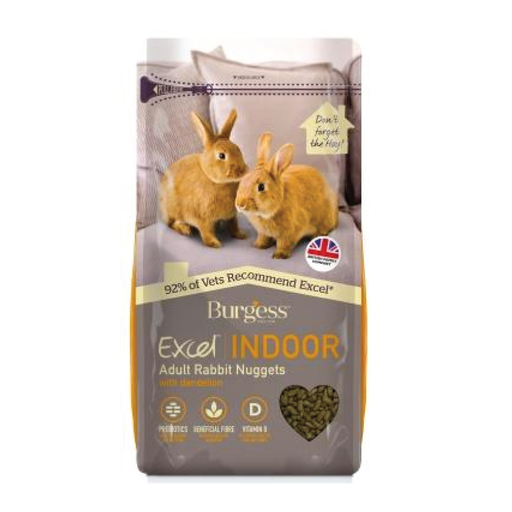 Burgess excel indoor rabbit nuggets 1.5kgs - PETTER