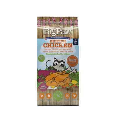 LITTLE BIGPAW British Chicken Complete Dry Food for Kittens 1.5kg - PETTER