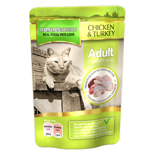 Nature's menu cat chicken & turkey 100gr - PETTER
