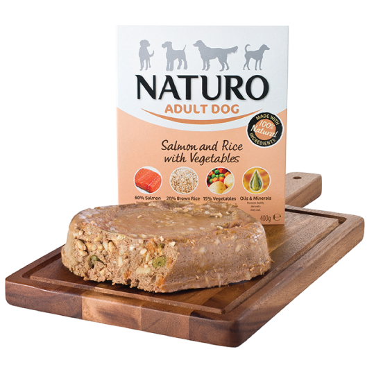 Naturo Adult Dog - Salmon & Rice with vegetables - PETTER