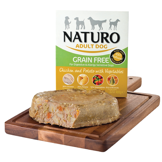 Naturo Adult Dog - Grain Free Chicken & Potato with vegetables 400gr - PETTER