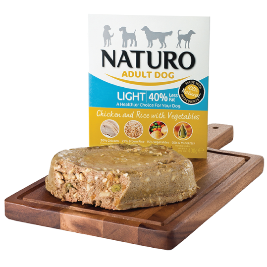 Naturo Adult Dog - Light Chicken & Rice with vegetables 400gr - PETTER