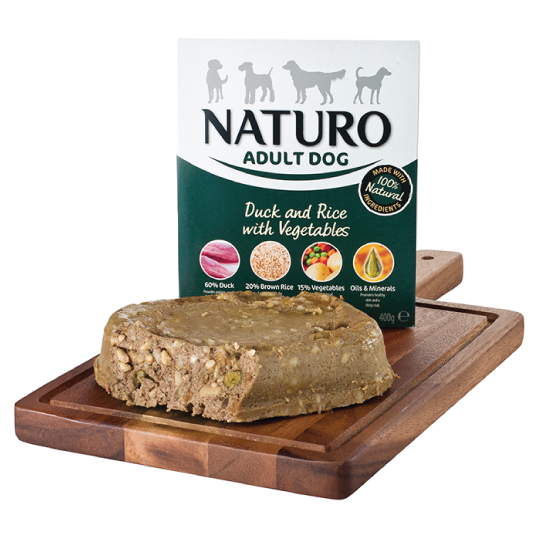 Naturo Adult Dog - Duck & Rice with vegetables 400gr - PETTER