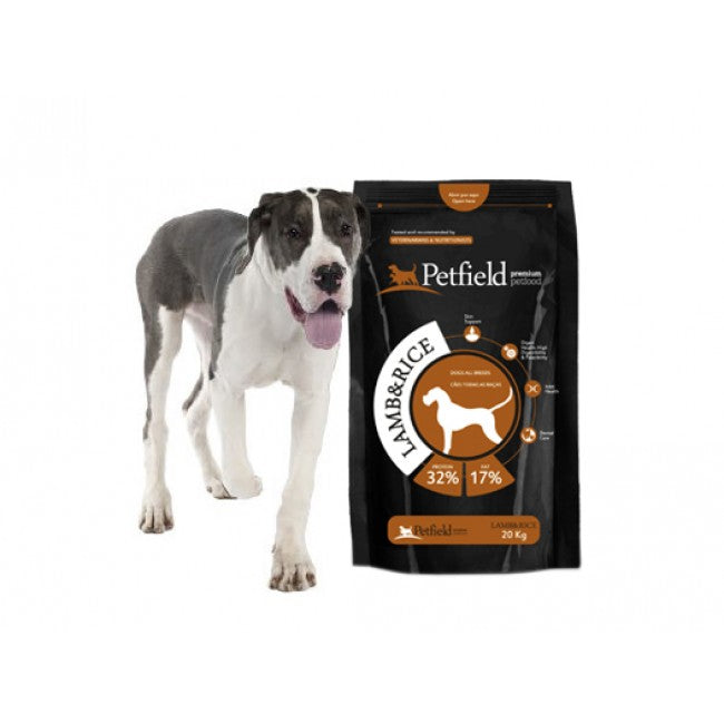 Petfield lamb & rice 20kgs - PETTER