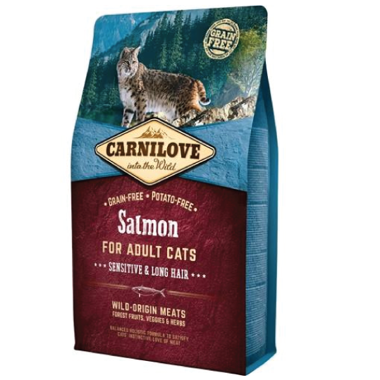 CARNILOVE salmon for sensitive & long hair adult cats - PETTER