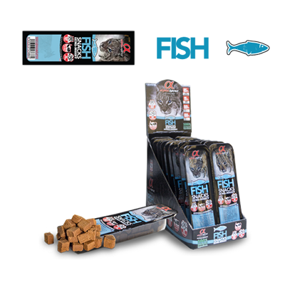 Alpha spirit fish semi-moist cat snack 35gr - PETTER