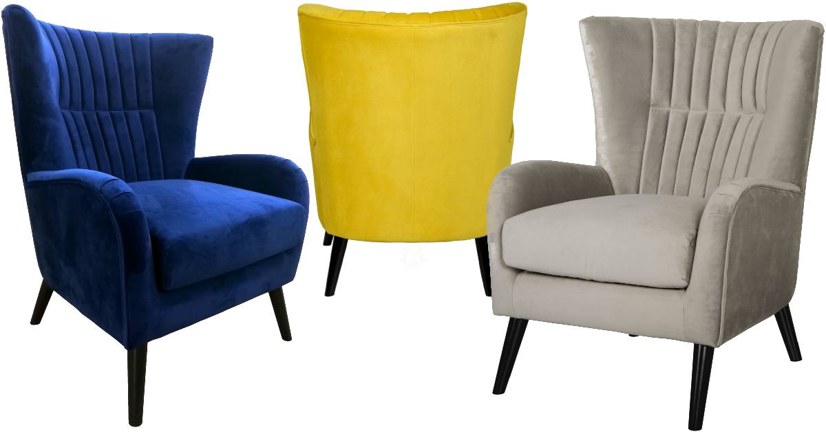 Velvet Upholstered Accent Chairs - JLC Home Furniture Store