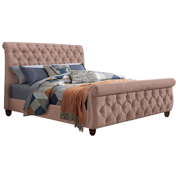 Ashley Fully Upholstered Bed - Pink
