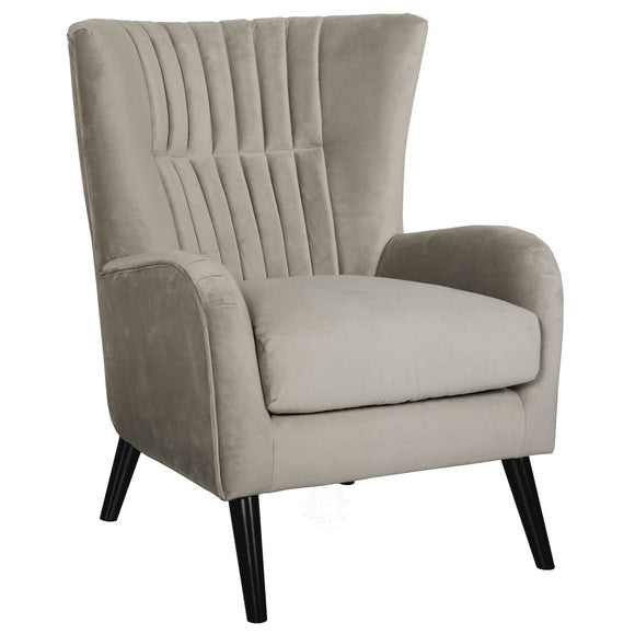 Lila Velvet Upholstered Accent Chair, grey | JLC Furniture