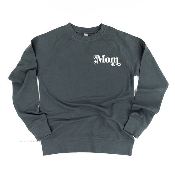 Mom (Retro Pocket) - Basics Collection - Lightweight Pullover Sweater