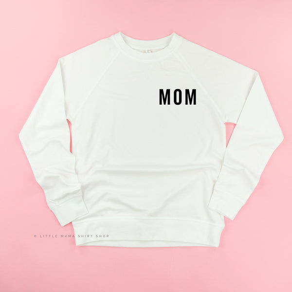Mom (Pocket Size - Block Font) - Basics Collection - Lightweight Pullover Sweater