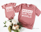 Mamas Run the World / Girls Run the World | Set of 2 Shirts