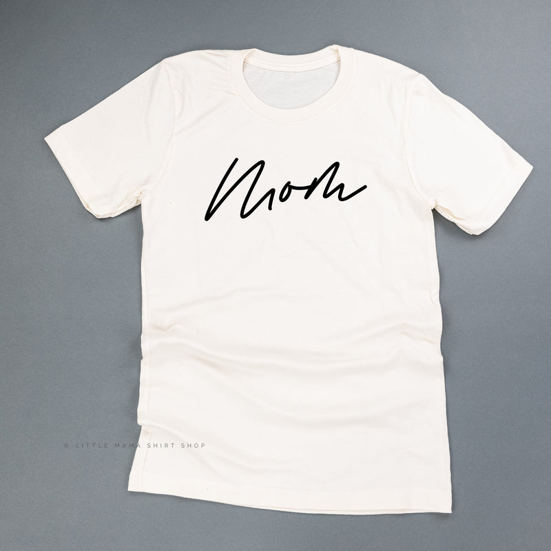 Mom (Cursive) - Basics Collection - Unisex Tee