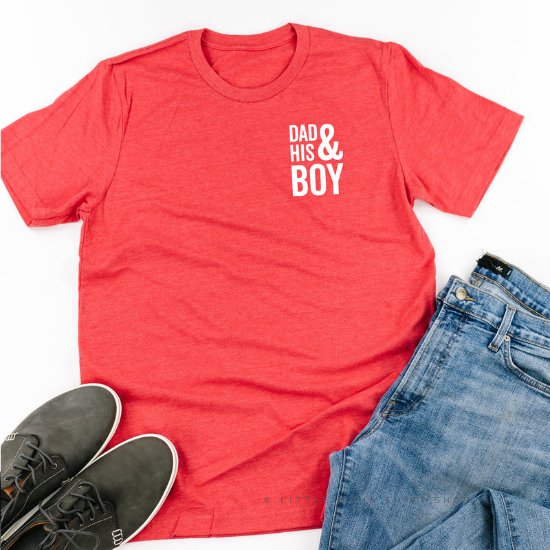 Dad + His Boy (Singular) - Unisex Tee