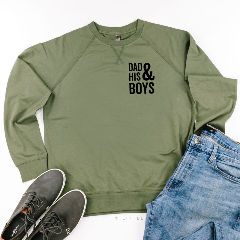 Dad and His Boys (Plural) - Lightweight Pullover Sweater