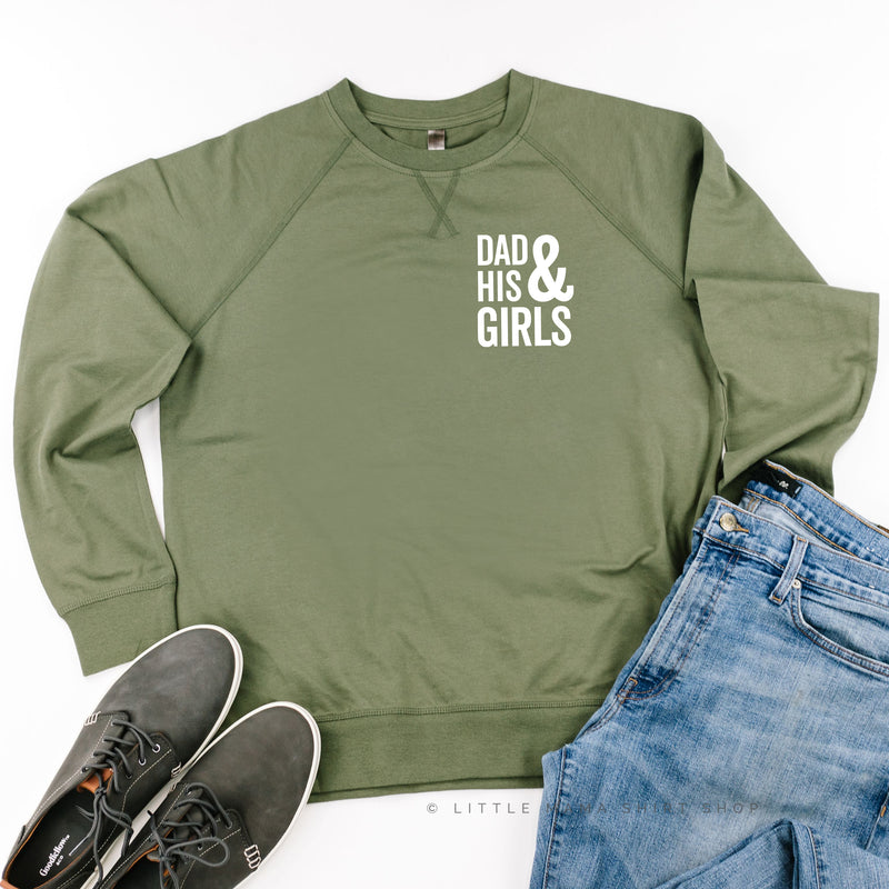 Dad and His Girls (Plural) - Lightweight Pullover Sweater