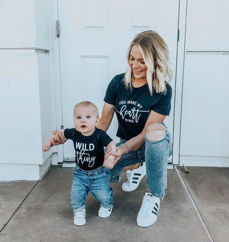 Wild Thing - You Make My Heart Sing | Set of 2 Shirts